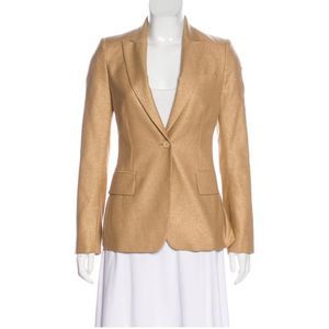 Stella McCartney Metallic Gold Blazer Size 10